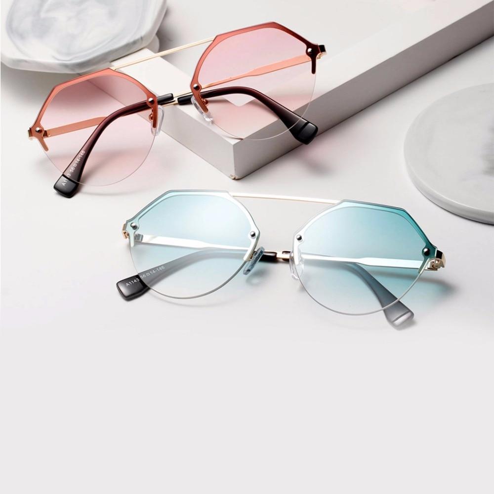 Fashion Lady Polygon Sunglasses Hexagon Sunglasses Girl Lady Sunglasses Blue Pink Clear Lens Sun Glasses Female Brand Designer Women's Sunglasses Women's Glasses