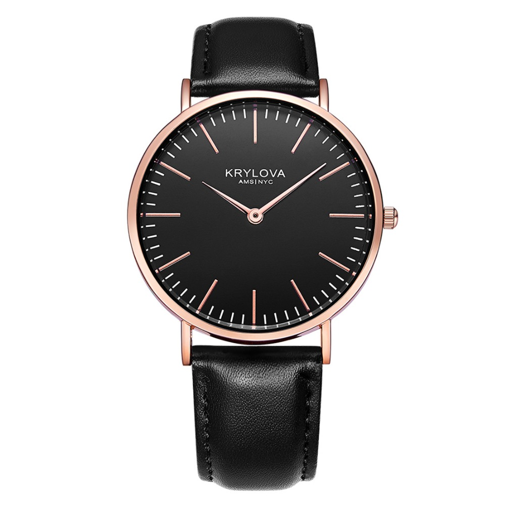 KRYLOVA Top Brand Fashion Ladies Watches Leather Female Quartz Watch Women Thin Casual Strap Watch Reloj Mujer shengke brand fashion watches women casual leather strap female quartz watch reloj mujer 2018 sk women wrist watch k8025