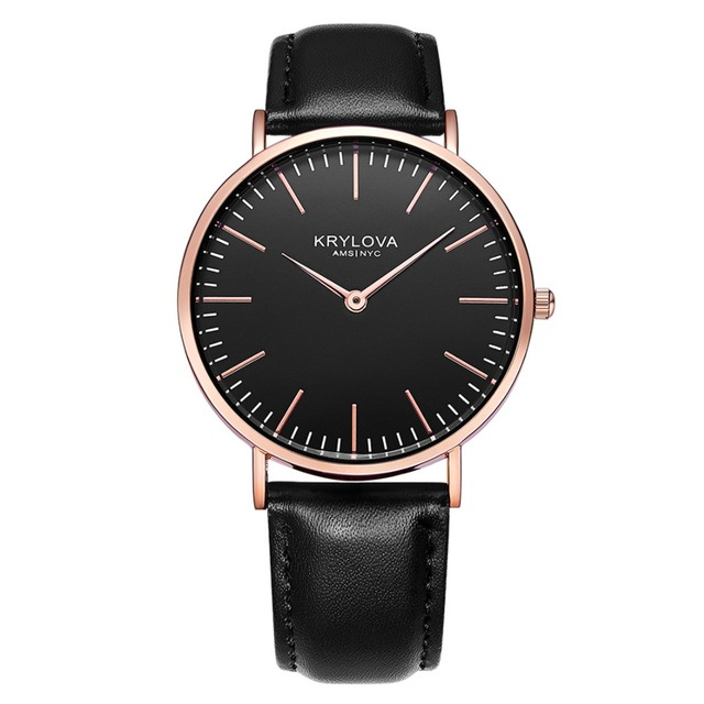 KRYLOVA Top Brand Fashion Ladies Women Watches Luxury Leather Female Quartz Watc