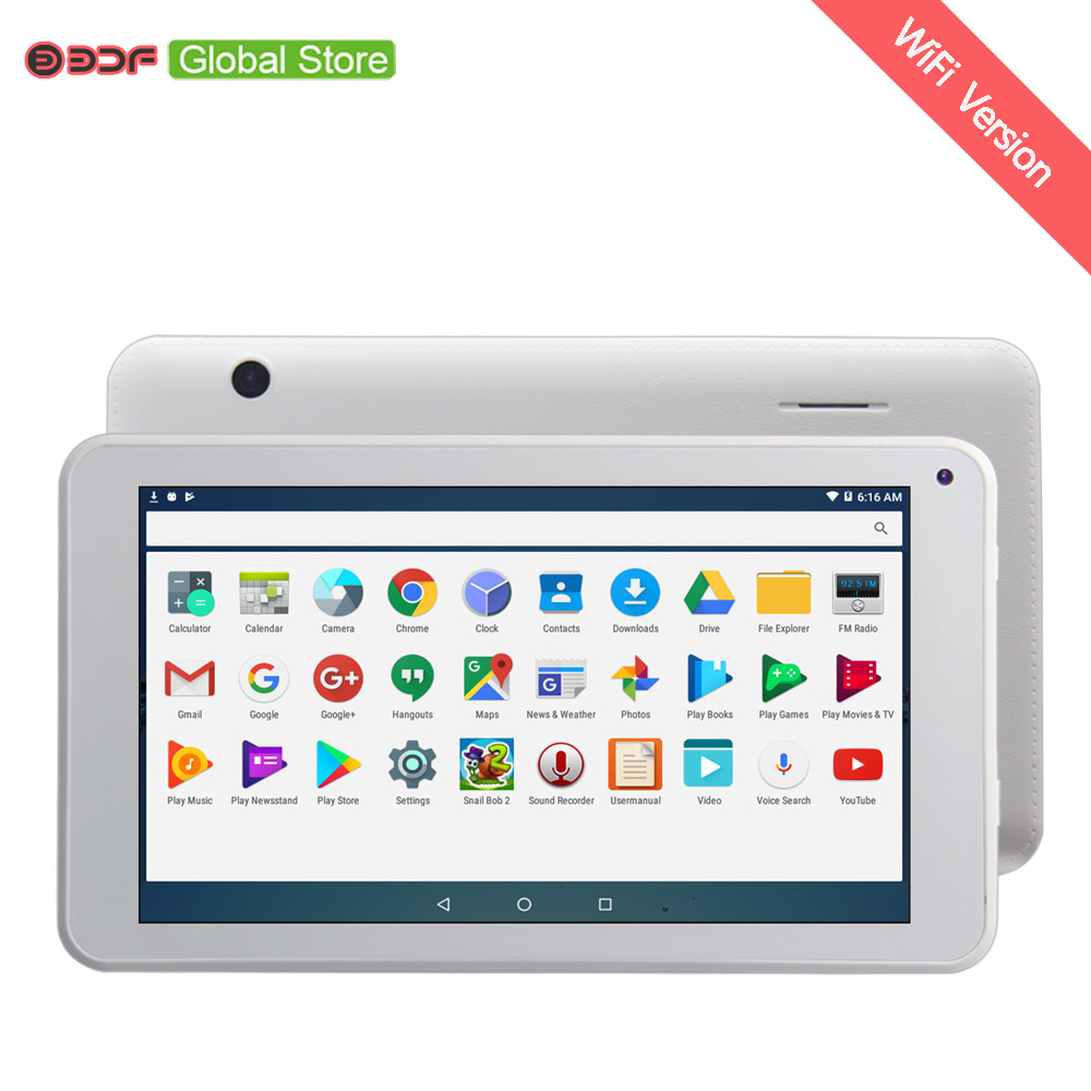 Cheap and Simple 7 inch Tablet PC SoFIA Android 6.0 Quad Core 1GB+16GB Dual Camera WiFi Ultra Slim Bluetooth WiFi Tablet PC