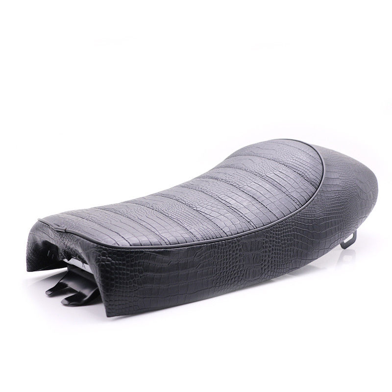 Universal Motorcycle Alligator Leather Hump Cafe Racer Vintage Seat Cushion For Honda Yamaha Kawasaki Suzuki Chopper