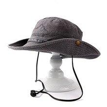 Fibonacci Brand Quality Washable Cowboy Bucket Hat Fishman Flat Caps Men Outdoor Mountaineering Fishing Sun