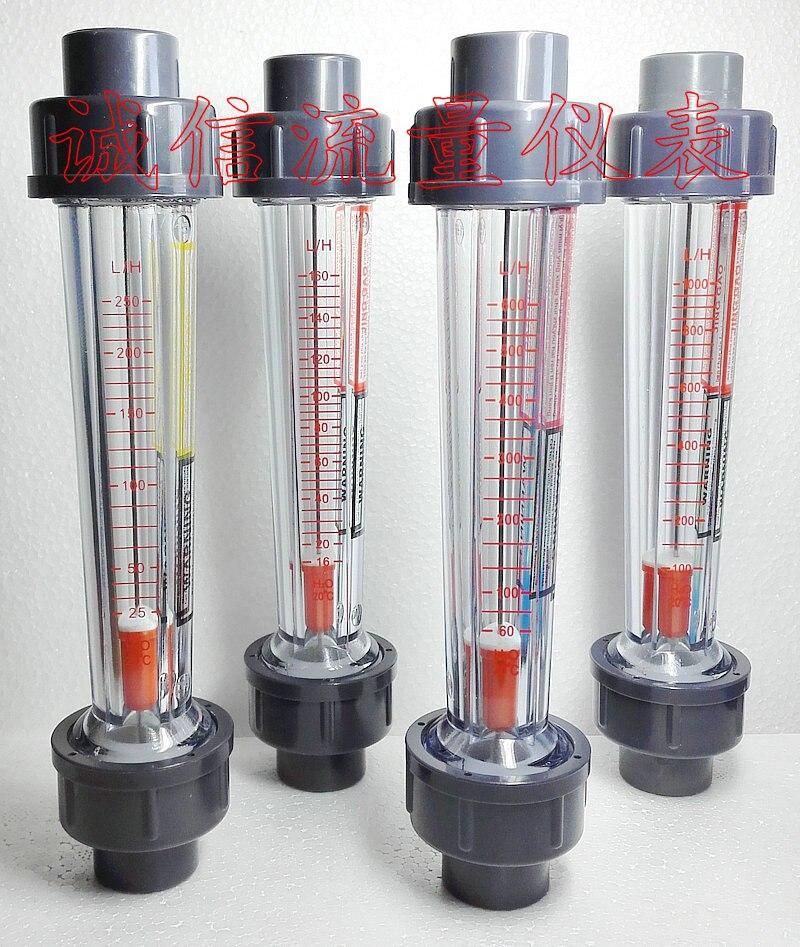 LZS-15 medidor de flujo de 60-600L/H tubo de plástico de agua líquida rotámetro instrumentos de medición de flujo DN15 agua medidor de tubo de 202mm