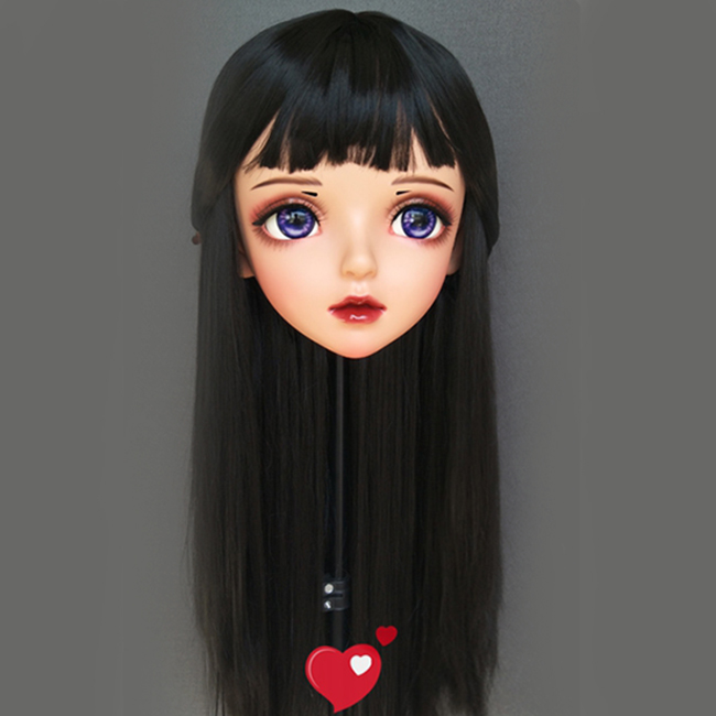 Costumes & Accessories miao-10 female Sweet Girl Resin Half Head Kigurumi Bjd Mask Cosplay Japanese Anime Role Lolita Mask Crossdress Doll Mask Fashionable And Attractive Packages