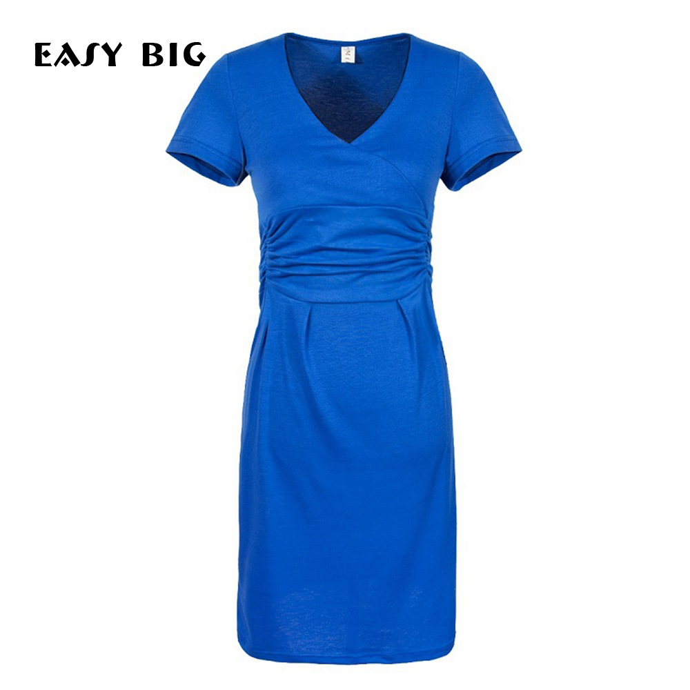 EASY BIG New Spring Plus Size Elastic Maternity Dresses Slim Clothes For Pregnant Women Comfortable Pregnancy Clothing MC0020