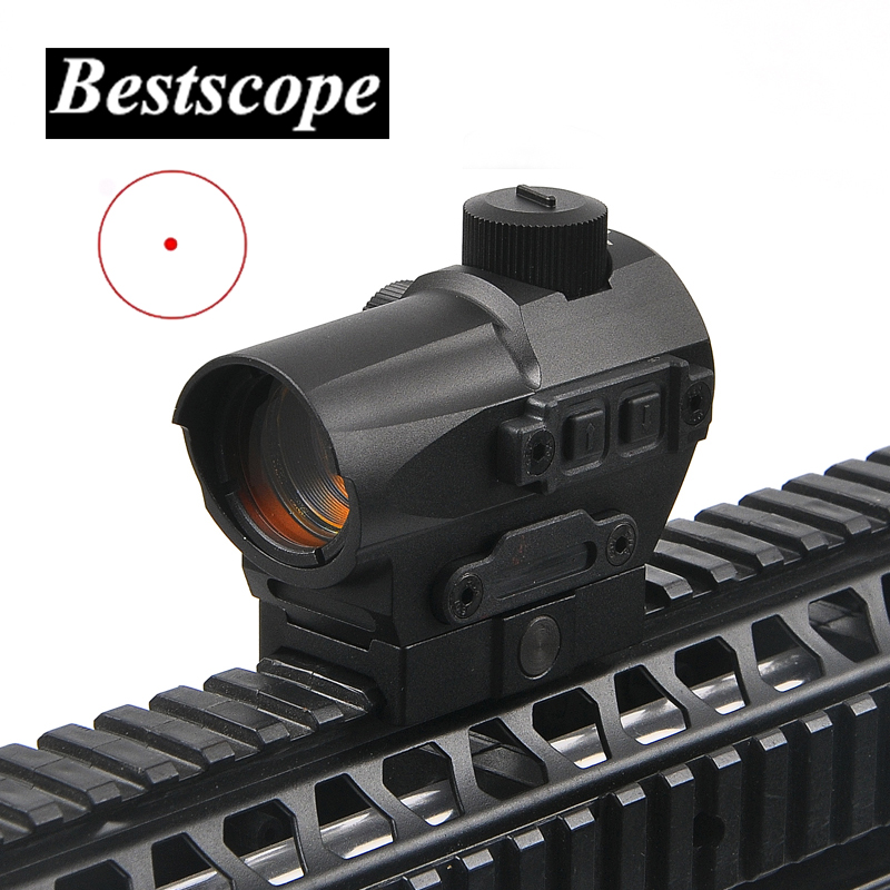 Hunting Red Dot Sight 1.5 MOA Mini Red Dot With 20mm Riser Mount Rifle Scope Hunting Optik For Air Rifle Optics greenbase low mount 5 moa red dot sight tactical riflescope 1x32 optics rifle scope with kill flash nga0237