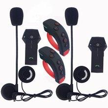 2 шт./лот Новый 1000 м Bluetooth мотоциклетный шлем полный дуплекс Интерком-гарнитура BT переговорные наушники с пультом управления Управление NFC FM