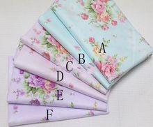 Delicate Fashion Flower  100%cotton Quilting fabric Clothes Home Textile Bedding Sewing Doll Cloth DIY 01