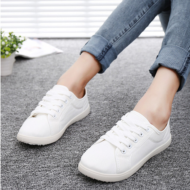 new arrival b9f40 1c961 Step away with the money Sen female white shoes Korean art Fan plain white  sneakers tie