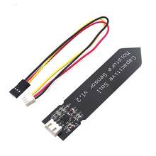 Capacitive Soil Moisture Sensor Module Not Easy to Corrode Wide Voltage Wire 3.3~5.5V Corrosion Resistant W/ Gravity for Arduino(China)