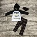 kids Fall clothes baby girls hoodie clothing girlsmiss sassy pants outfits children arrow pants boutiques clothing with headband