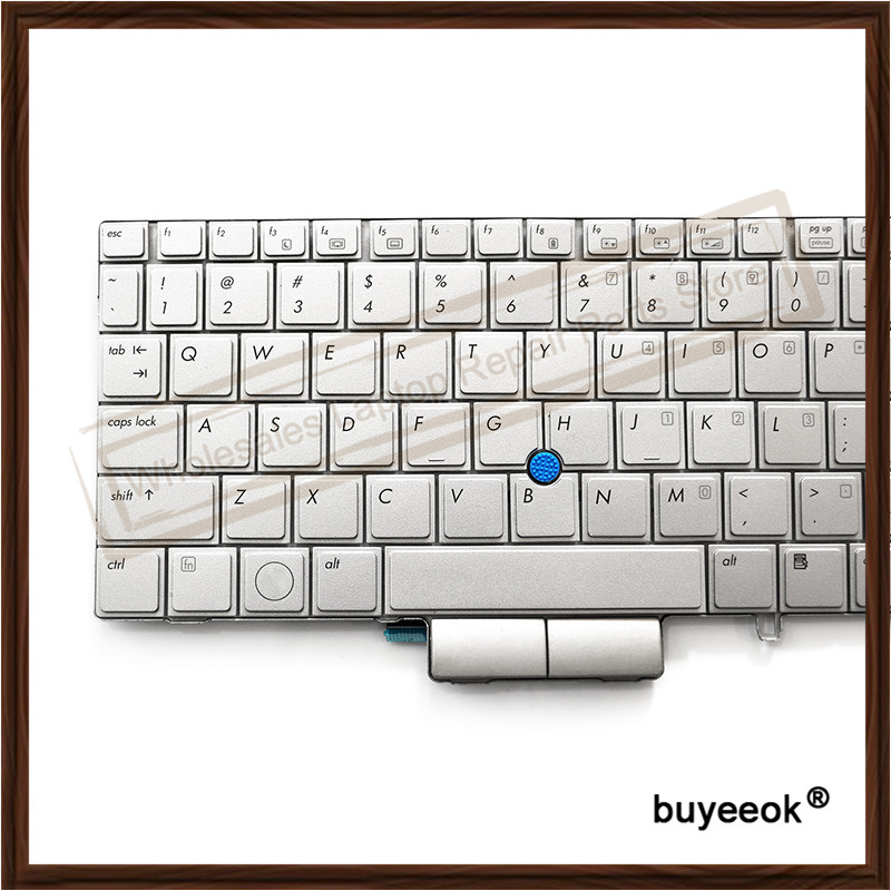 US $15 71 |Original Silver US Laptop keyboard for HP 2760P With Backlit  Pointing Stick Keyboard Replacement-in Keyboards from Computer & Office on