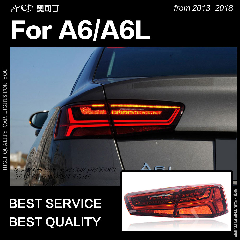 AKD Car Styling for A6 Tail Lights 2012 2017 A6L Classic LED Tail Lamp LED DRL