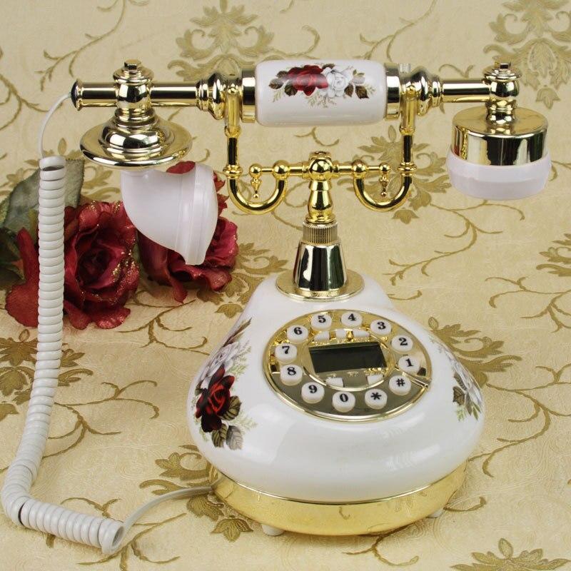 Европейский Сад Ретро Винтаж керамические бытовые стационарный телефон Caller антикварные ремесла