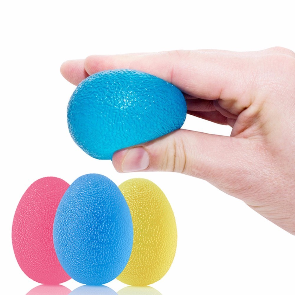 1pc Egg-shaped Silicone Fitness Relieve Gym Trigger Point Massage Ball Training Fascia Grip Ball Stress Relief Power Ball