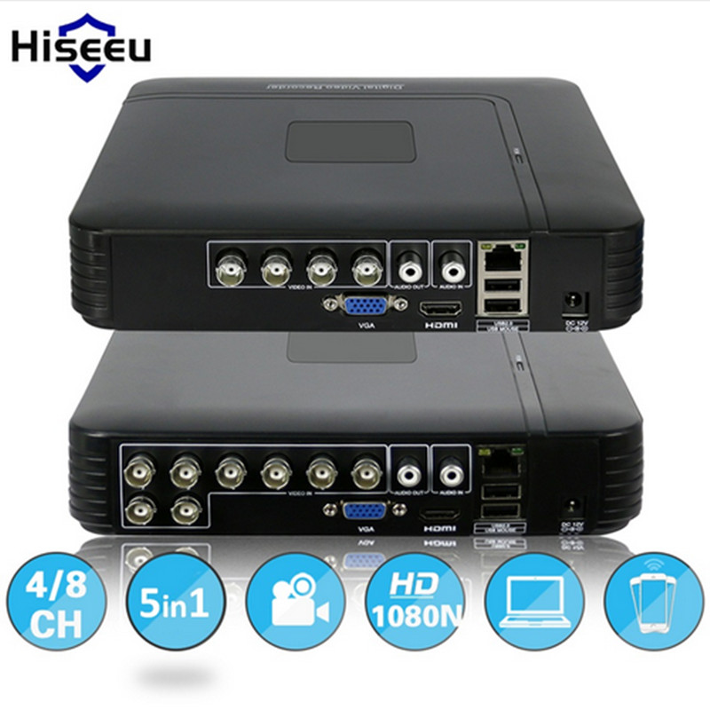 AHD 1080N 4CH Mini DVR 5IN1 Digital Video Recorder For CCTV VGA HDMI Security System NVR For 1080P IP Camera H.264 Hiseeu 42 16 ch 1080n cctv dvr recorder h 264 hdmi network digital video recorder suit anolg ahd cctv camera for home security system