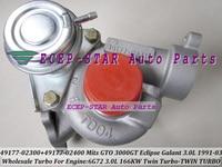 Libérez Le Bateau Paires Twin Turbo TD04 49177-02300 49177-02400 Turbocompresseur Pour MITSUBISHI GTO3000GT Eclipse Galant Dodge 91-6G72 3.0L