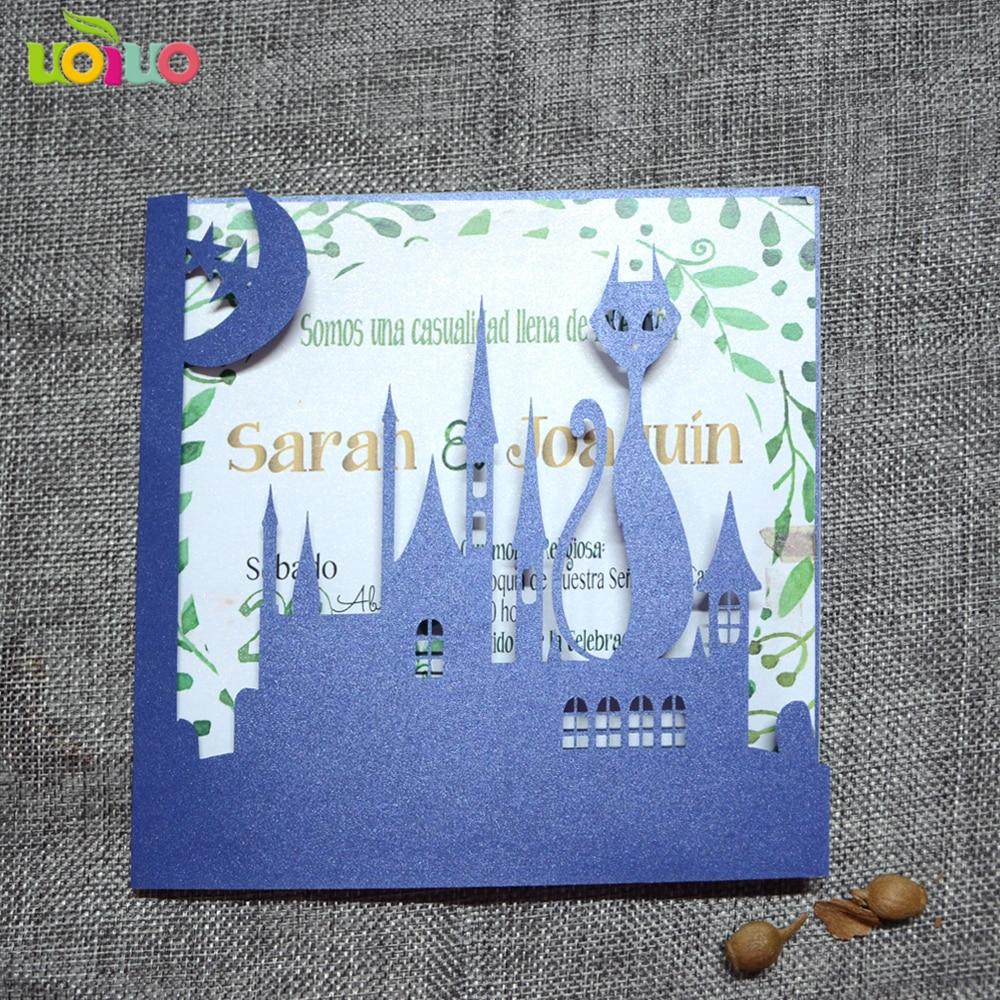 20 pcs azul royal modelos de cartões de convite de corte a laser cartões de  convite de casamento do Dia Das Bruxas d9fc57c494
