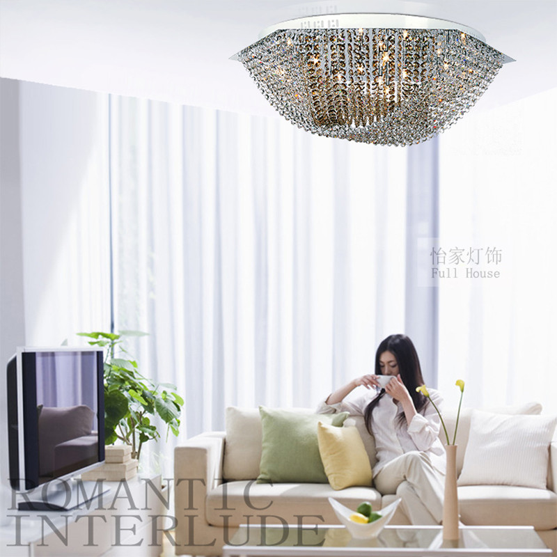 surface Hexagon Full crystal Led ceiling lights with G4 Led bulbs Bar - Indoor Lighting - Photo 6