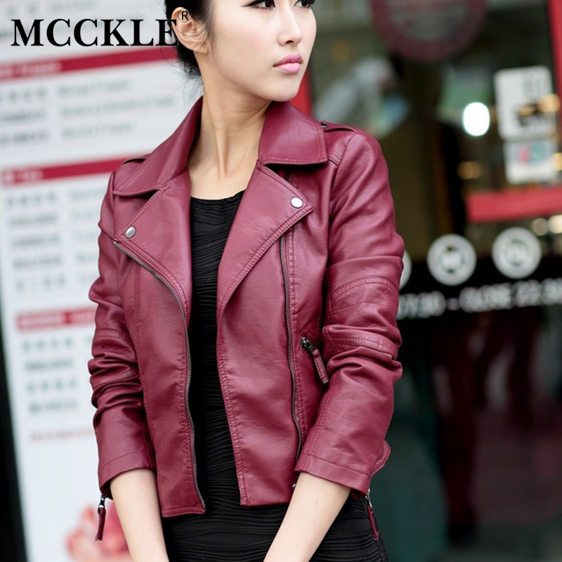 Women's PU   Leather   Motorcycle Short Jacket Zippers Long Sleeve 2019 Spring Female Coat Turn Down Collar Coats Black Dropshipping