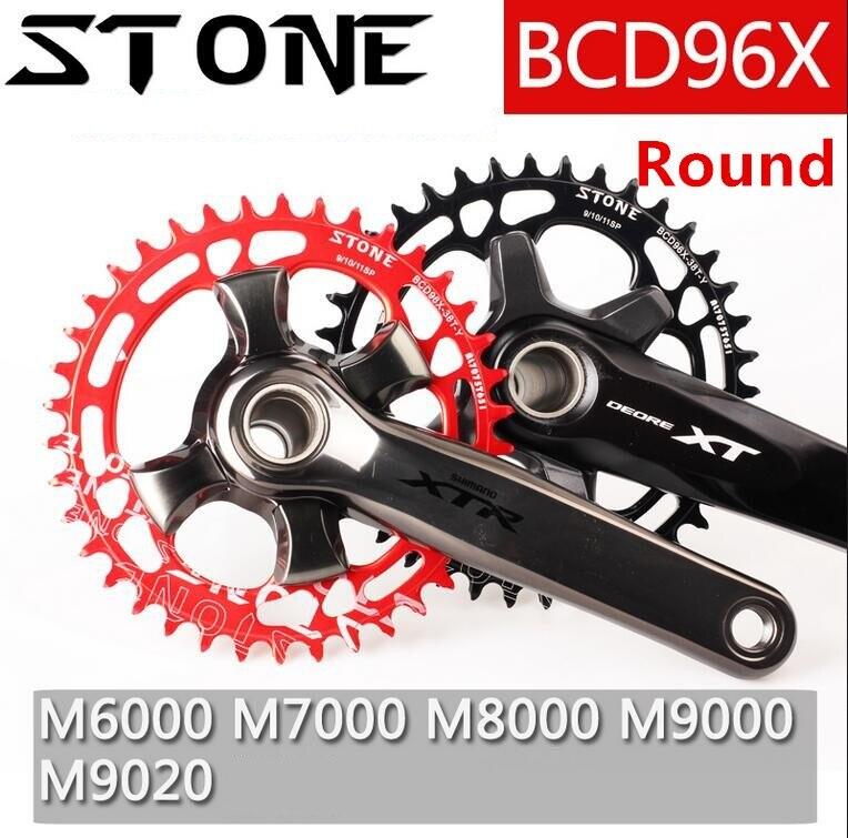 Pierre 96 BCD Ronde Plateau pour Shimano M7000/8000/9000 32/34/36/38/ 40/44/46/48 T VTT Vélo Pédalier Vélo Manivelle Plaque Dentaire