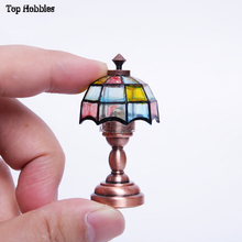 Mini 1/6 Scale Bright Table Lamp Color Desk Lamp Furniture for Scene Accessories modern Fit 12'' Action Figure Doll Toys цена 2017