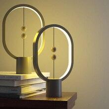 Allocacoc USB puissance Ellipse magnétique mi air interrupteur lumière de nuit blanc chaud Mini Heng Balance LED lampe de Table bureau décor à la maison