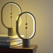Allocacoc USB כוח אליפסה מגנטי אמצע אוויר מתג חם לבן לילה אור מיני הנג איזון LED שולחן מנורת משרד בית תפאורה