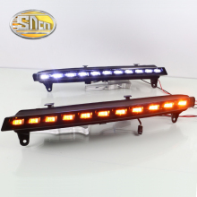 SNCN LED Daytime Running Light For Audi Q7 2006 2007 2008,Car Accessories Waterproof ABS 12V DRL Fog Lamp Decoration