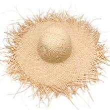 Verano mujeres tassel Sol sombrero con una gran ala señoras rafia paja  franja sombrero grandes sombreros de playa para vacacione. 65c8086c570f