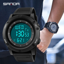 SANDA Military Men Sport Watch LED Digital Countdown shockproof Waterproof Relogio Masculino Chronos Electronic Watches