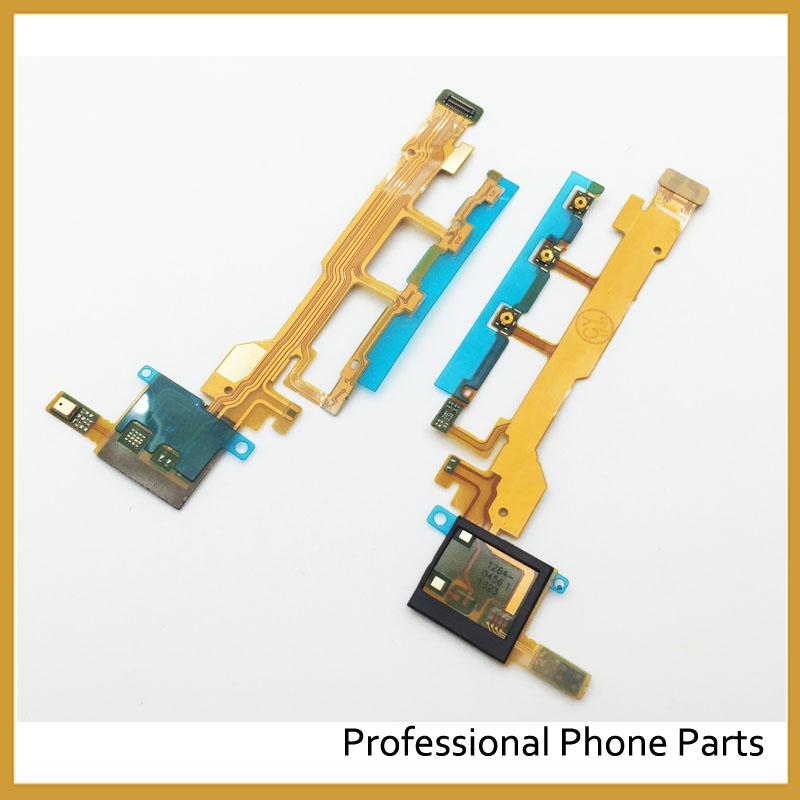 Original For Sony Xperia Z L36H L36 LT36 C6602 C6603 Power Button Flex Cable With Microphone Ribbon