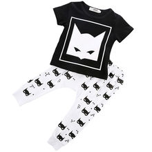 Newborn Baby Boys Cartoon Movie T-shirt Pants Clothes Set Cute Cotton Short sleeve 2pcs Clothes Sets Summer Clothing Sets