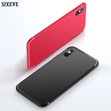 Ультратонкий чехол SIXEVE для телефона iPhone X, 10, 8, 7, 6, 5 S, 5S, SE, 6S Plus, 6Plus, 6S Plus, 7Plus, 8Plus, ударопрочный силиконовый чехол-накладка из ТПУ