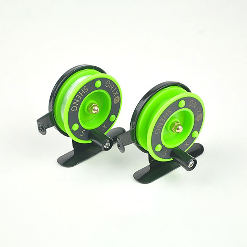 Image 5 - Winter Ice fishing wheel Mini fishing reel  reel small wheel front wheel Green Color TX005-in Fishing Reels from Sports & Entertainment