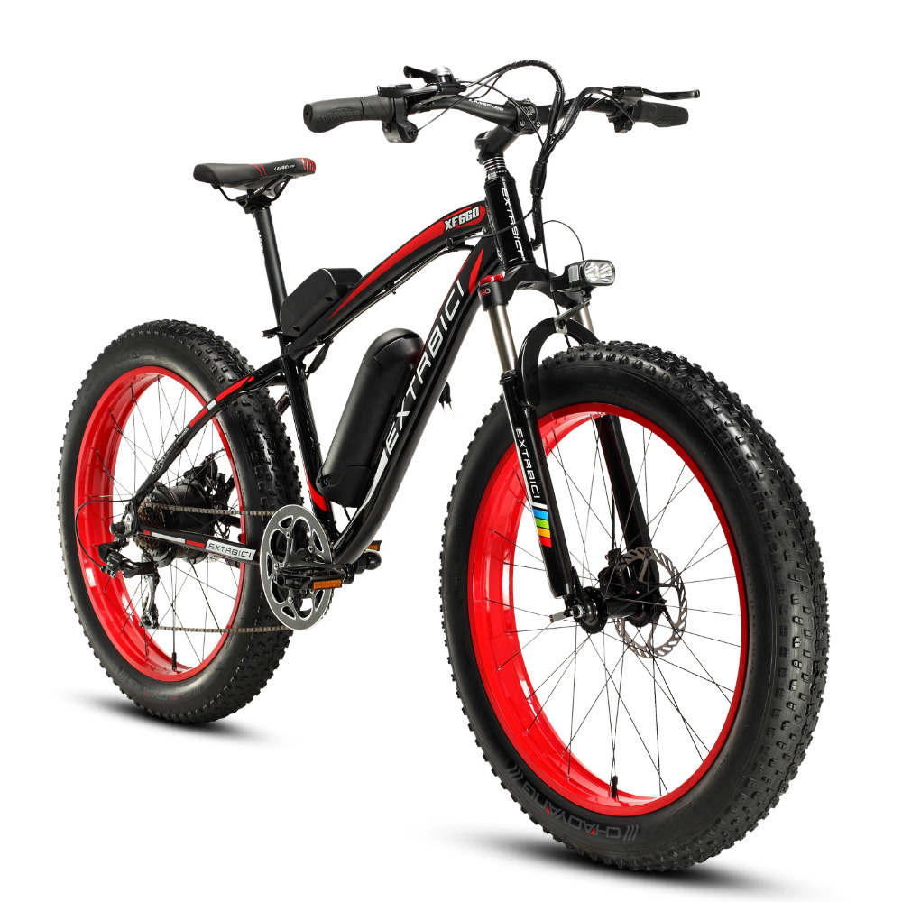 Free Customs Extrbici XF660 4.0 Fat Tire Cruiser Electric Bike 26