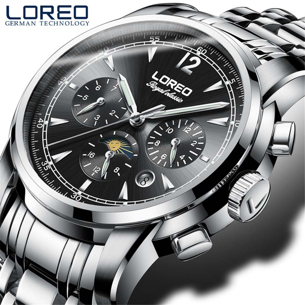 Waterproof Top Brand Luxury Men Watches Sapphire Fashion Mechanical Watch Multifunction 6 Hands Man Casual Luminous male clock nakzen top brand luxury fashion classic business men stainless steel watch automatic mechanical male sapphire luminous watches