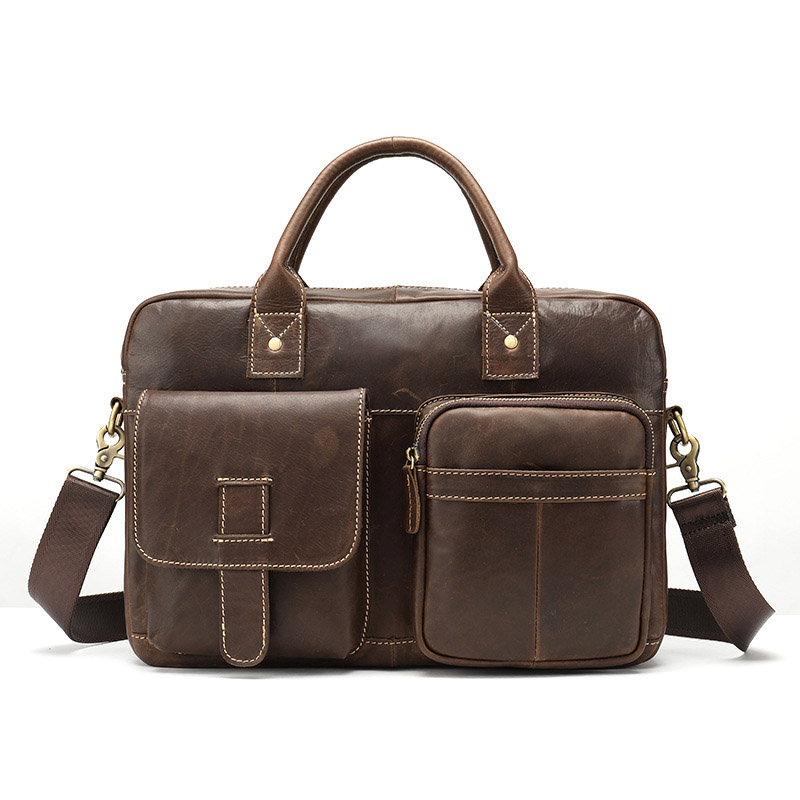 Genuine Leather Mens Messenger Bag Shoulder Cross Body Bags Business Briefcase Handbag Travel Casual Totes Flap Pocket SatchelsGenuine Leather Mens Messenger Bag Shoulder Cross Body Bags Business Briefcase Handbag Travel Casual Totes Flap Pocket Satchels