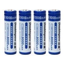 Capacidade de 3000 Recarregável com Pcb 4 Pçs e lote Doublepow Genuine Plena Mah Bateria 18650 3.7 V Li-ion Protegido