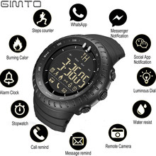 GIMTO Sport Smart Watch Men Ios Android Chronograph Stopwatch Electronics Watches Digital Bluetooth Watch Smartwatch Pedometer(China)