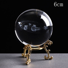Get more info on the Deli 1PCS 6CM 3D Solar System Crystal Ball Planets Glass Ball Laser Engraved Globe Miniature Model Home Gift Ornament 60mm
