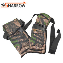 цена на 1pc 4Tubes Arrow Quiver Waist Hip Belt Arrow Storage Bag Shooting Training Holder Quiver Arrows Outdoor Bow Hunting Accessories