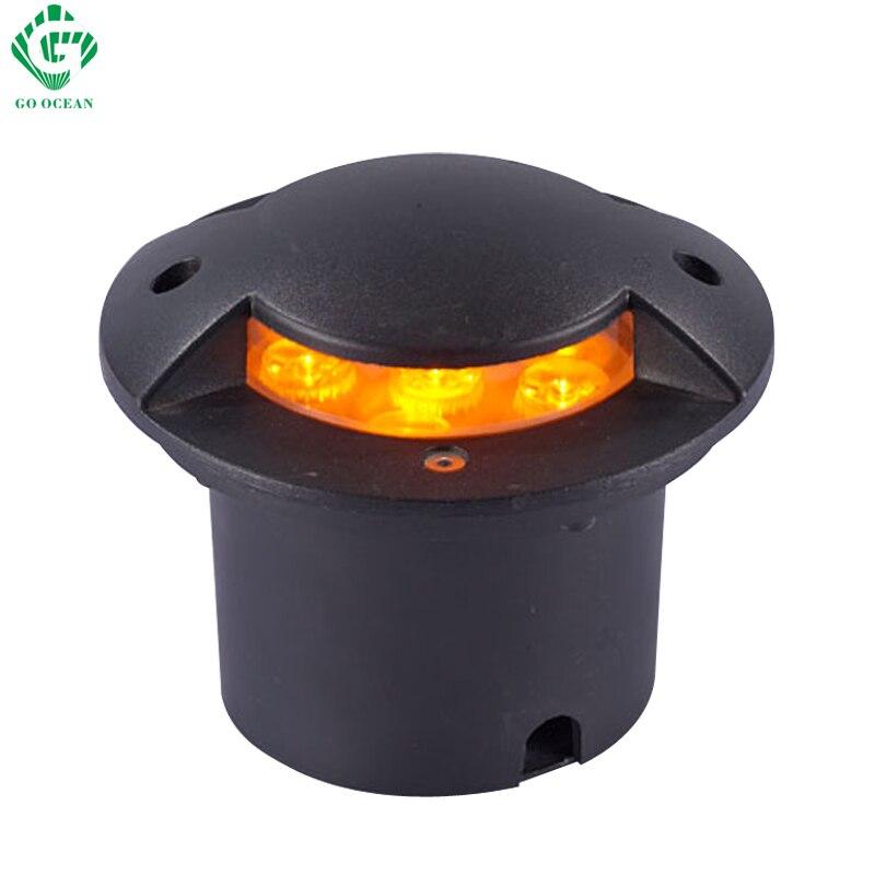 LED Underground Lamp 12V 24V 110V 220V 7W Outdoor Garden Recessed Step  Buried Floor Patio Light