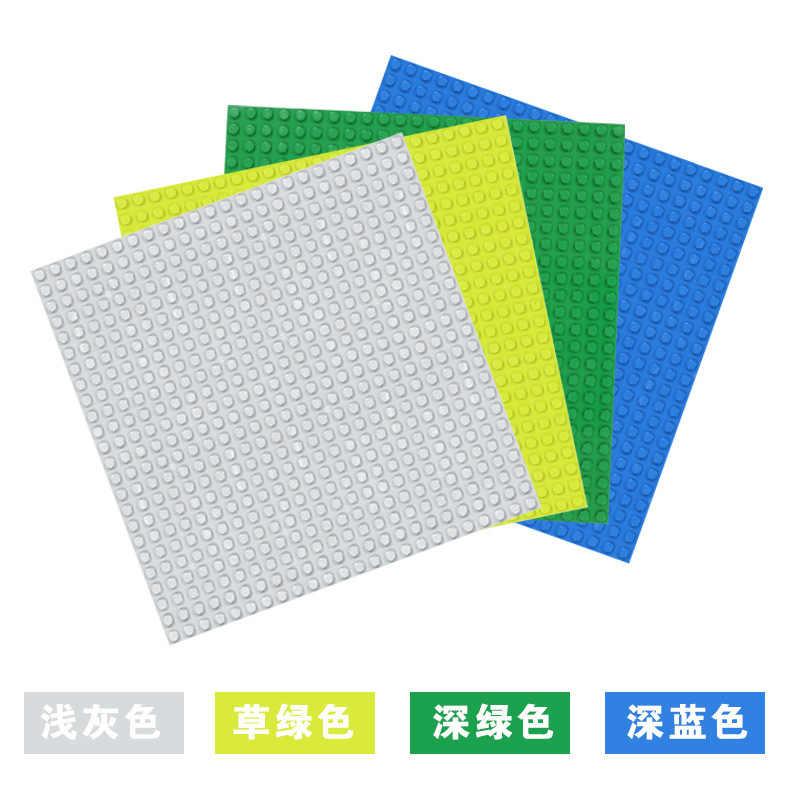 512 duploes grandes tijolos placa base 16*32 pontos 51*25.5cm placa de base tamanho grande blocos de construção fllor brinquedos diy compatível placa verde