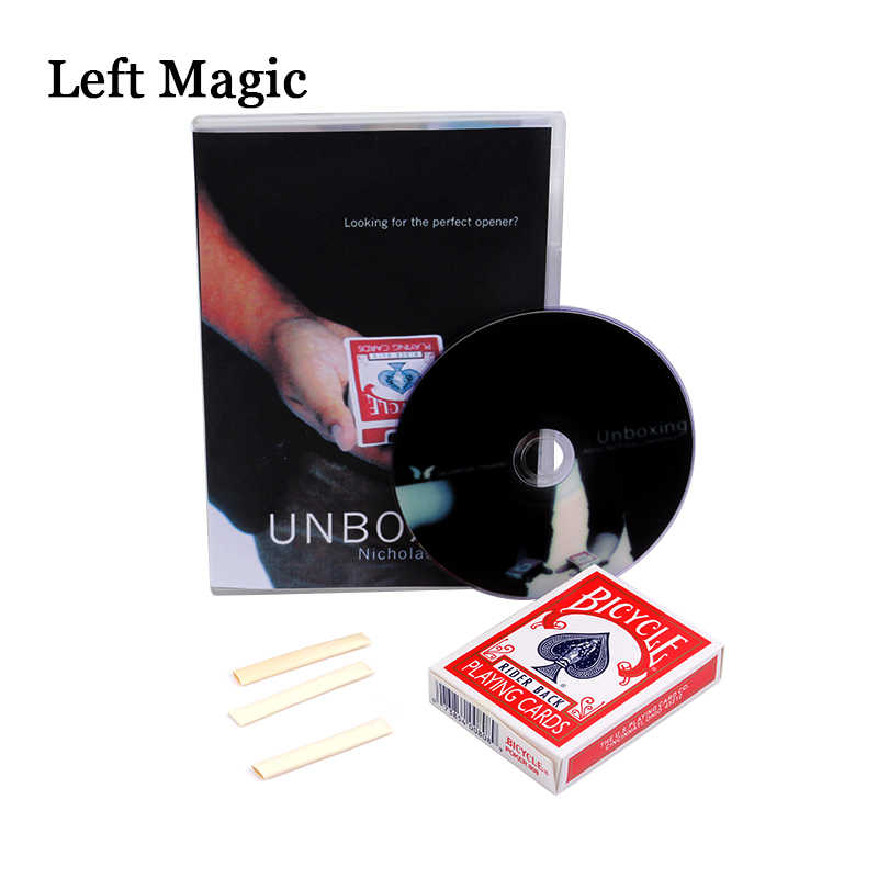 Unboxing By Nicholas Lawrence & SansMinds (DVD+Gimmick) - Card Magic Tricks Close Up Magic Accessories Stage Fun Illusions