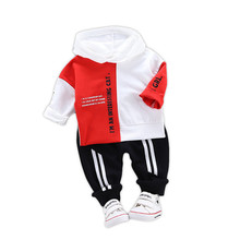 Baby Boys Clothes Sets 2019 Toddler Boys Hooded Sweatshirt Pants Set Autumn Children Sportswear Suit Tracksuit Baby Clothing Set стоимость