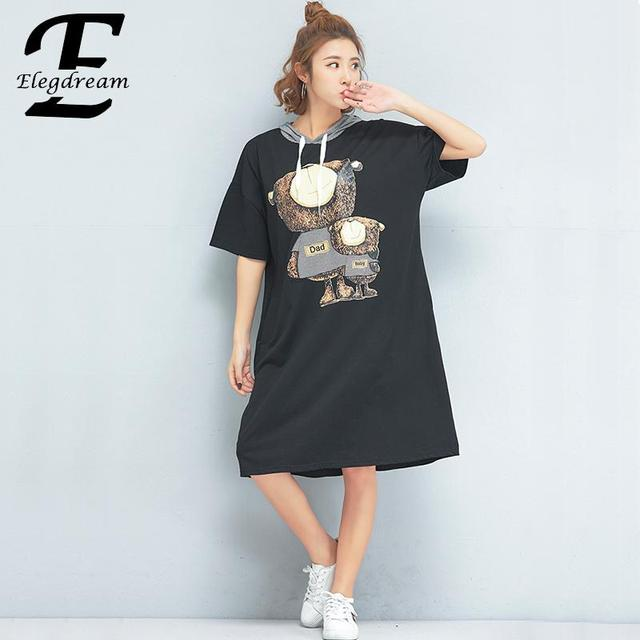 f17ceef06be Elegdream Brand Woman Clothing Fashion Animal Print Ladies Casual Dress Big  Size Loose Dresses Long Shirt Tunic Vestido Feminino