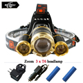 3 CREE XML T6 led headlamp headlights 10000 lumens led head lamp camp hike emergency light fishing outdoor equipment
