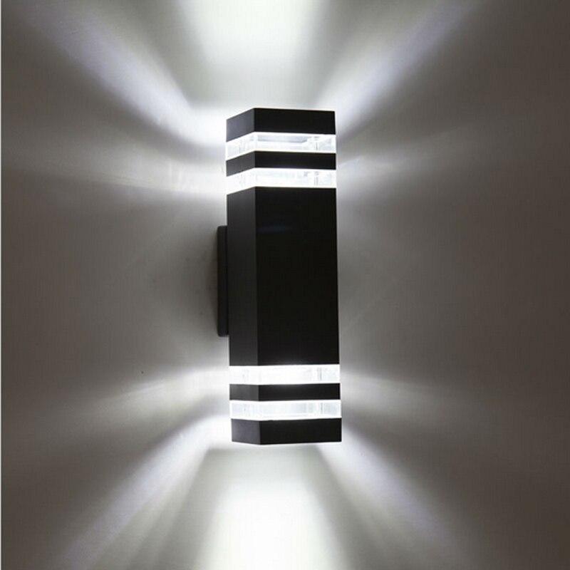 4 stk moderne udendørs vandtætte LED væglamper AC85-265V med 8W LED løg IP65 aluminium gårdhave haven veranda korridor lys