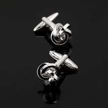 XK018 High quality fashion men's business Silver Cufflinks bent a twist Cufflinks Shirt Mens Clothing accessories